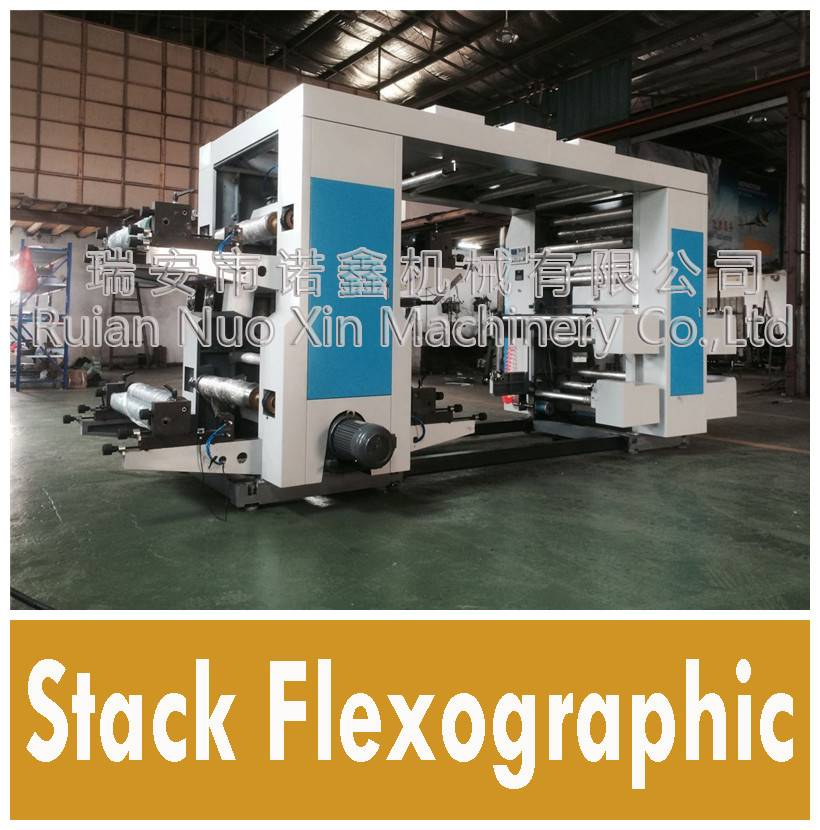 4 color roll paper flexographic printing machine