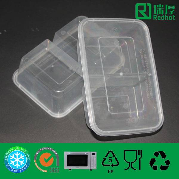 Two Compartments Plastic PP Food Container 850ml