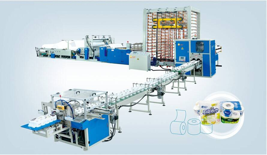 SJB-1575 Full automatic toilet paper and kitchen towel production line(Top Grade)