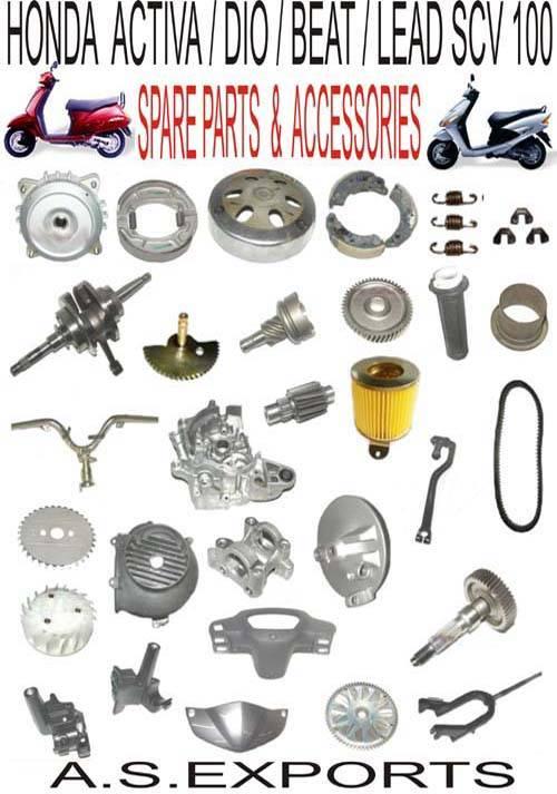 Selling spare parts/Yedek Parca/Piezas de Repuesto for Scooters Honda Activa,Dio,Beat.Lead SCV 100