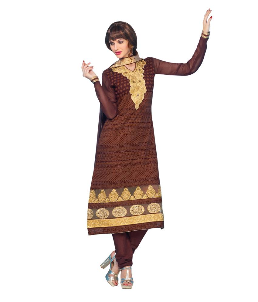 Coffee Georgette Salwar Kameez