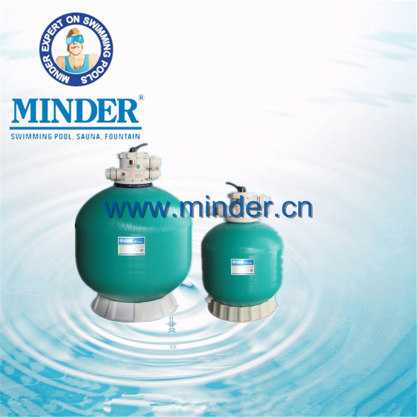 Firberglass 1.5 inch Valve Swimming Pool Sand Filter
