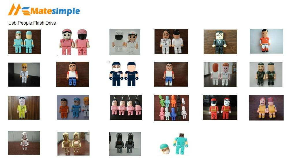 USB People Style Flash Drive, various styles, usd3.7/unit