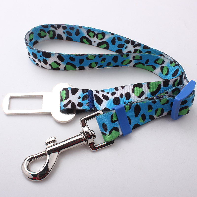 2017 personalized custom new style sublimation polyester car safety dog leash factory sell