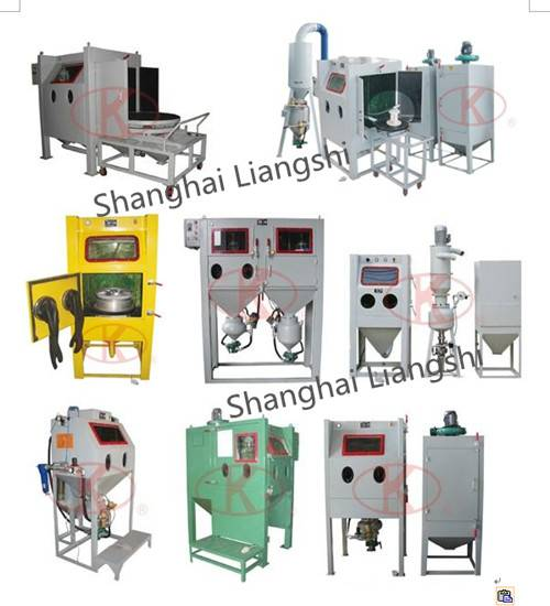 High Efficient Pressure Feed Type Sand Blast Cabinet