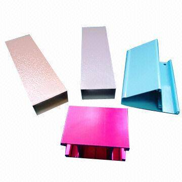 Aluminium extrusion profile anodizing powder coating finish