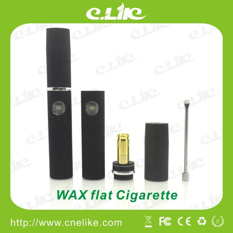 E-cigarette with Wax Vaporizer Pen, Newest Elips Starter Kits Flat wax cigarette