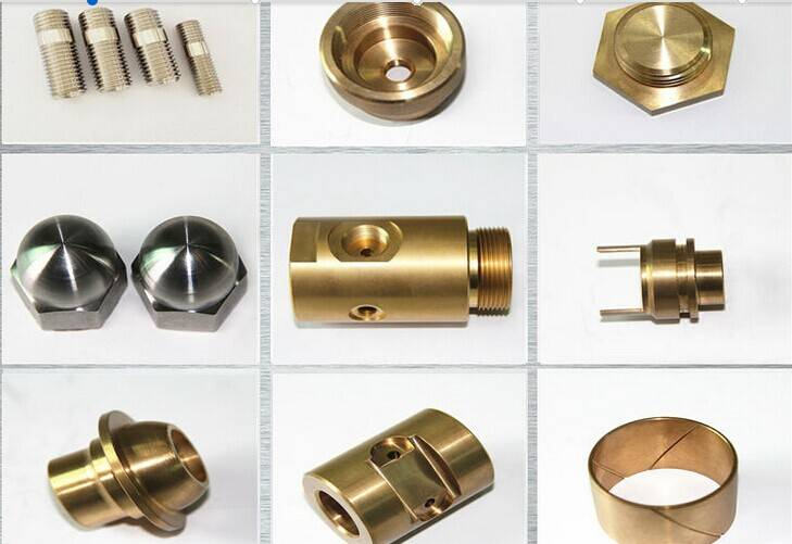 Low cost brass parts machining made by cnc machine