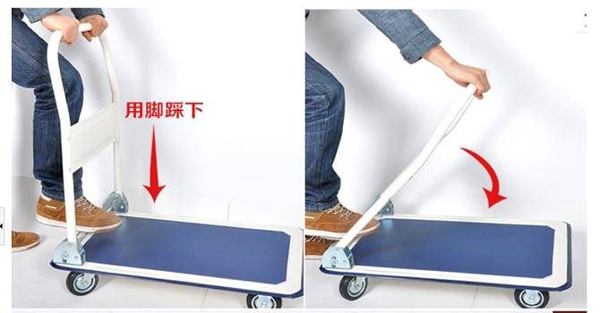 folding heavy duty hand cart trolley