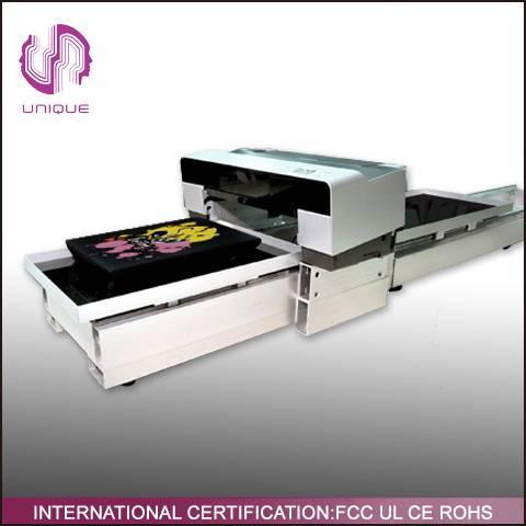 A2 Size Digital White Ink T-shirt Printer