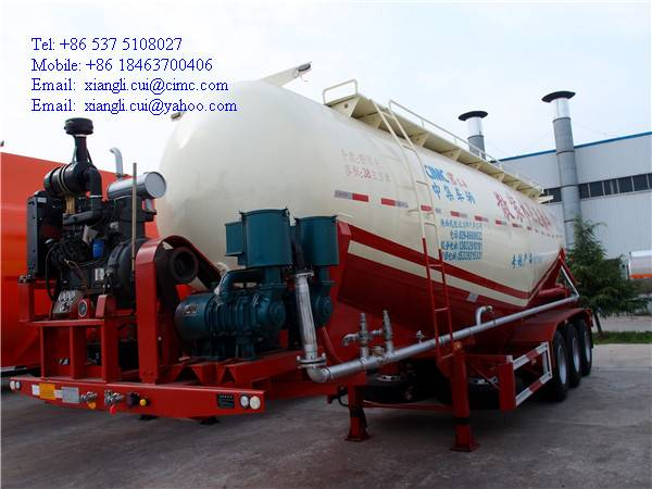 3 axles bulk cement tanker 50 tons