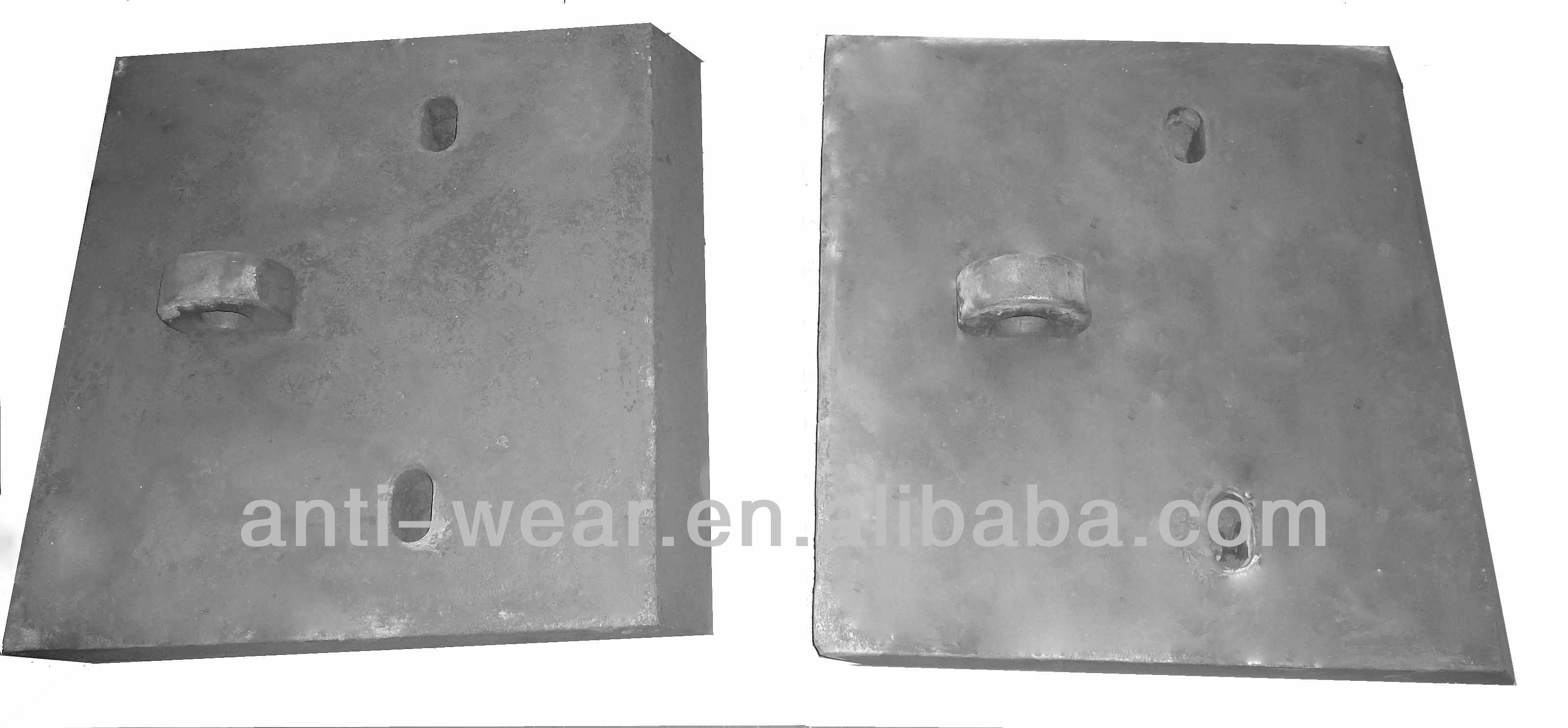 Cr18 Feed Chute Liner Castings with Hardness More Than HRC57