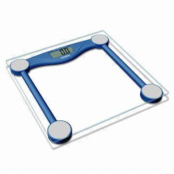 Digital Bathroom Scale with Step-on Technology and 6mm Safety Glass Platform
