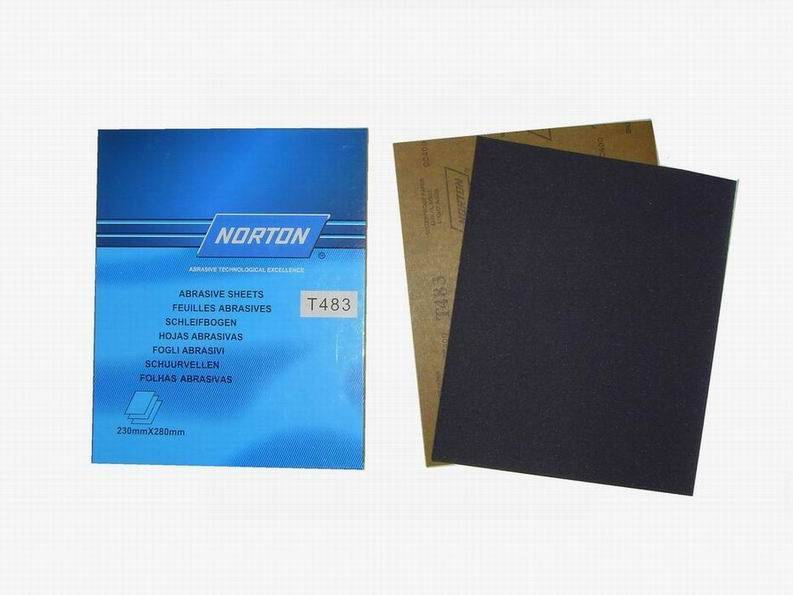 silicon carbide waterproof sand paper Norton brand