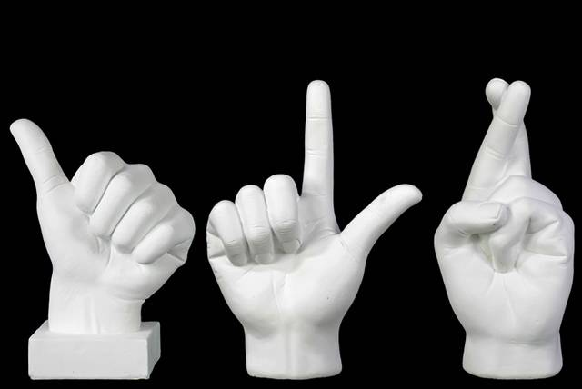 Fiberstone Hand Sign (Thumb Up/Fingers Crossed/Loser)