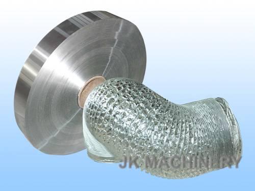 Laminated aluminum foil for flexible duct