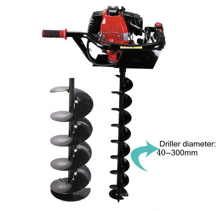 High quality earth auger/digging hole machine/ground drill