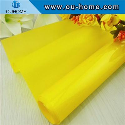 BT906 Decorative Building Pure Yellow Glass Film