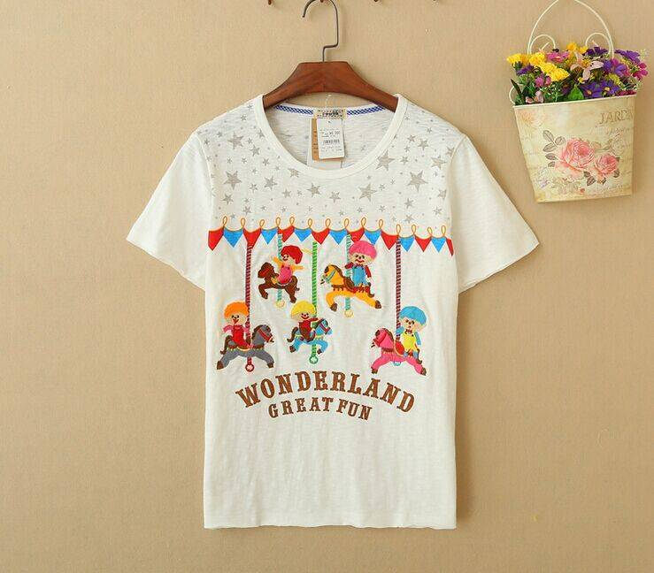 2015 New Lady Wonderland Short SleeveT-Shirt
