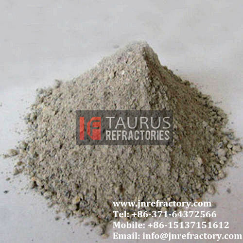Acid induction furnace lining refractory cement