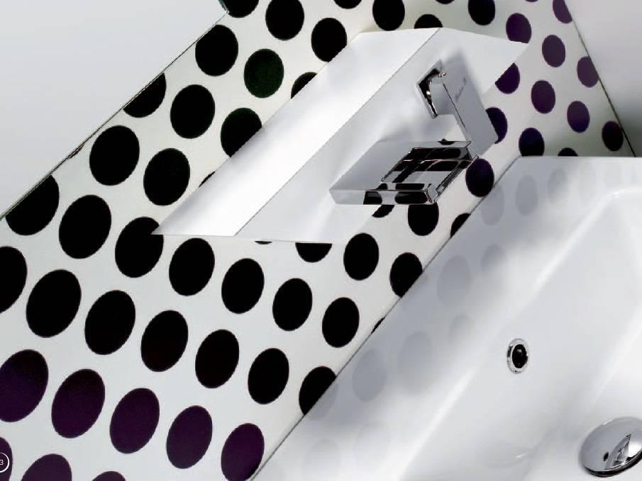 PLP wall mounted basin mixer, cascade spout