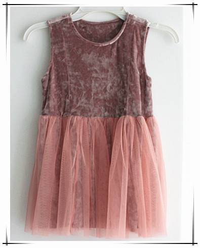 girl sleeveless new style korean dress with colorful gauze