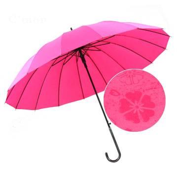 23x16K Auto Pongee Water Printing Umbrella