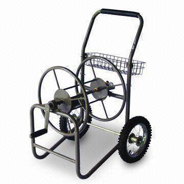 Garden Hose Reel with Pb-free and UV-resistant Powder Coating, Made of Steel and Rubber