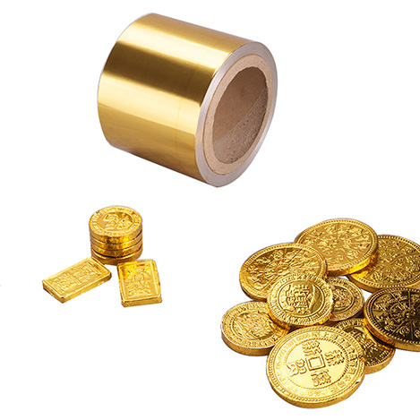 8011 o gold aluminium foil for chocolate coins wrapping