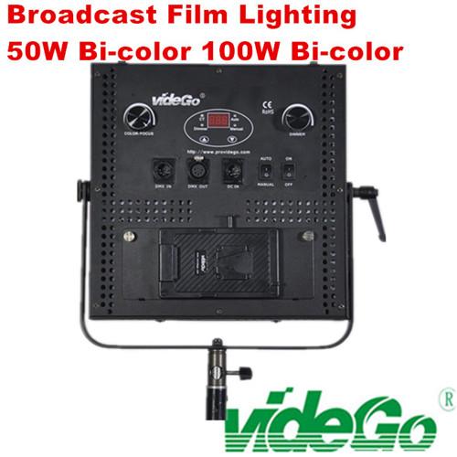 videGo LED Video Panel Light/Daylight/bi-color/Tungsten/100w bi color/50w 1x1 photograph light