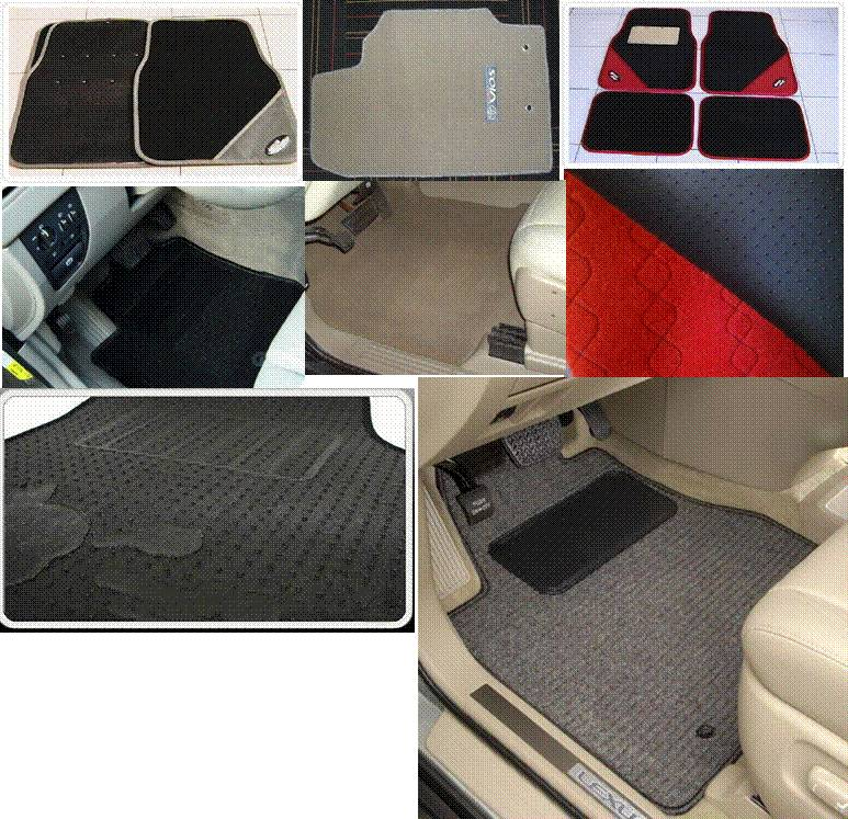Universal fit 4 pcs/set floor mat for cars, trucks, SUVs, and RVs. Construction: PP with non-skid ba