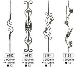 wrought iron balustrade for fence and gate decoration