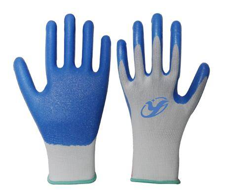 13G nylon/polyester foam nitrile close cell palm coated