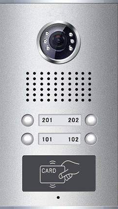 Video Door Phone for Apartment with Card Reader(4-button)