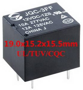 Subminiature 15A High Power Relay (JQC3FF/AZ943/HF3FF) Hongfa Relay Production