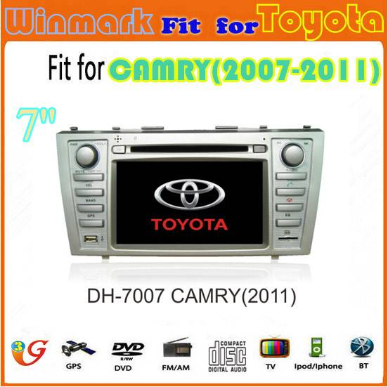 7inch Car multimedia for Toyota camry(2007-2011) Auto Radio Headunit DVD GPS Navigation with blutoot
