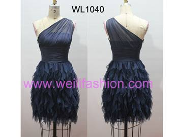 Short Cheap Pleated Chiffon Prom Dresses WL1040
