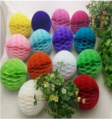 Wedding Decoration Coloured Hanging Light Joyous Paper Honeycomb Balls