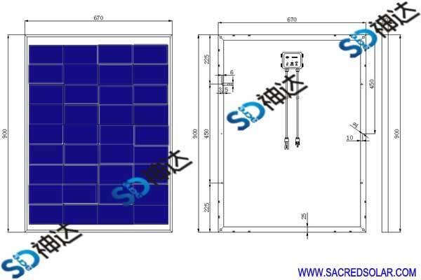 80W solar panel for solar system