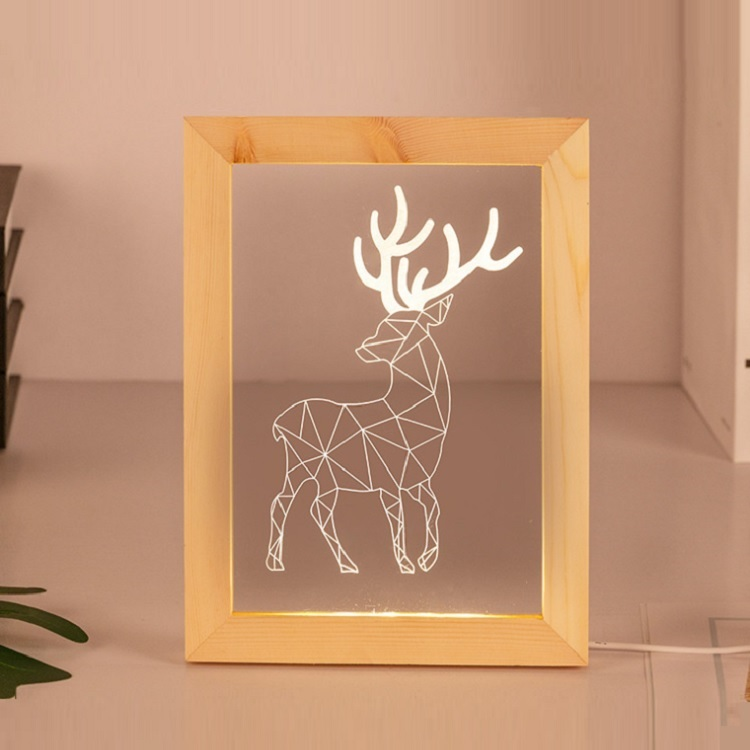 Sell Factory Price 3D Wood Frame Led USB 3D Lamp Wholesale