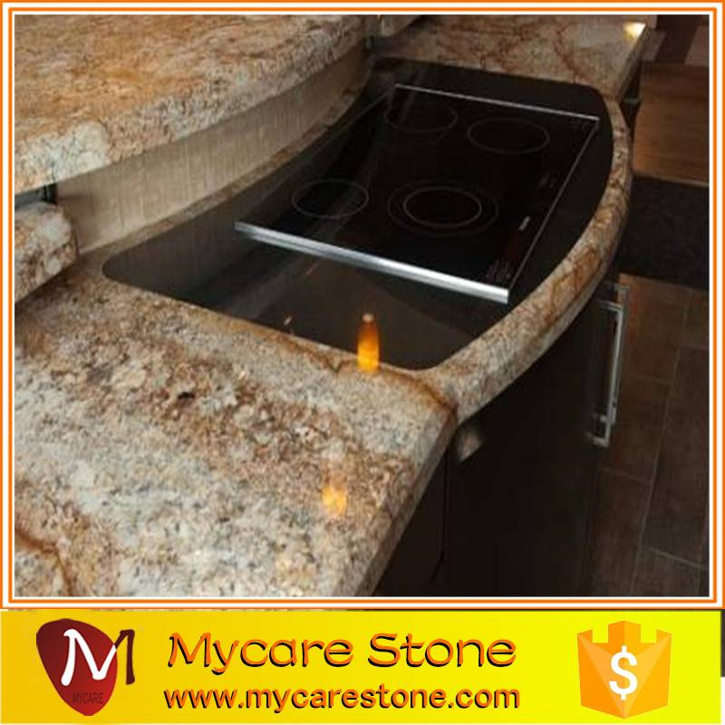 Popular Brazil Golden Granite Kitchen Countertops