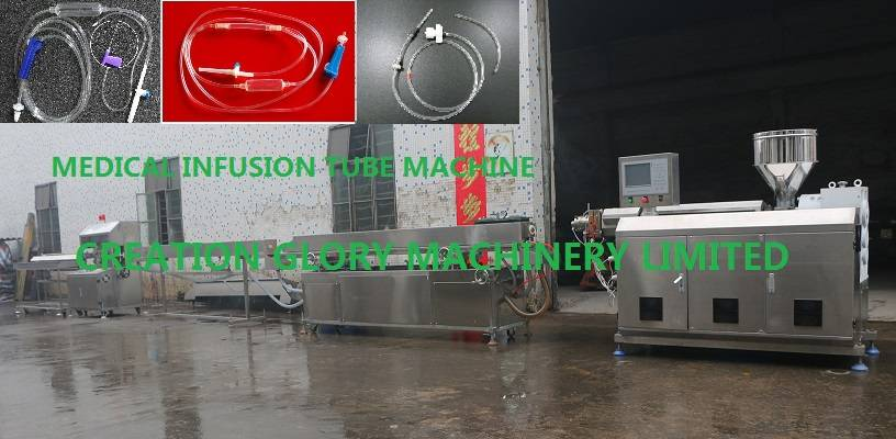 Medical infusion pipe extrusion machine