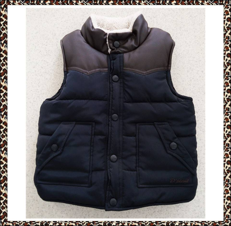 High quality and hot sale children's vest, boys winter vest