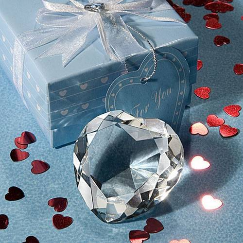 Crystal Heart Paperweight Wedding Favor/ Gift
