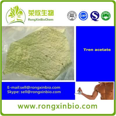 Hot sale 99.5% Trenbolone Acetate cas10161-34-9 Steroids Powder Yellow Trenbolone Powder