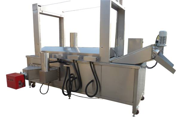 Stainelss Steel Gas/Electric Heating Continuous Peanut Fryer Machine