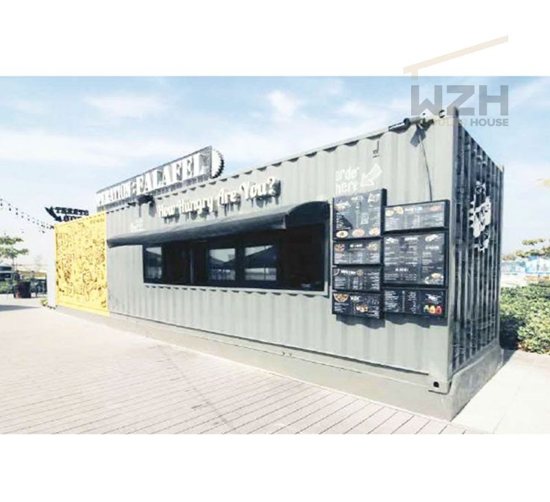 China Supplier Modular Container Restaurant new shipping container house portable restaurant