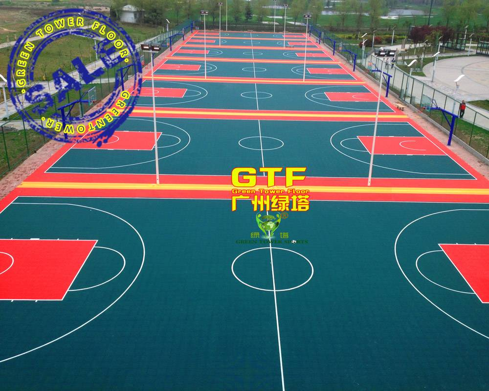 Recyclable PP Sports Interlocking Flooring for Basketball
