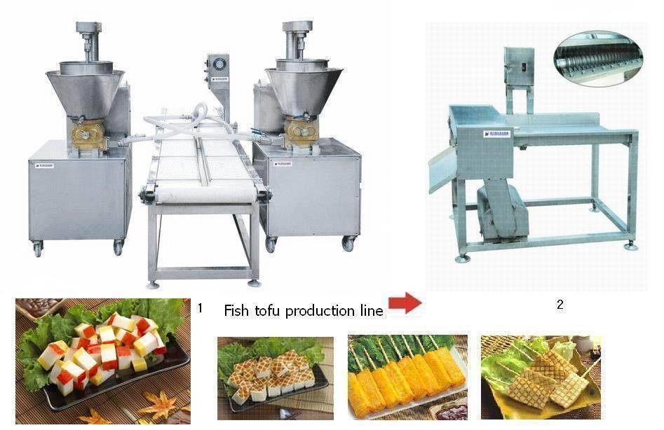 wholeslae fish tofu production line with stainless steel