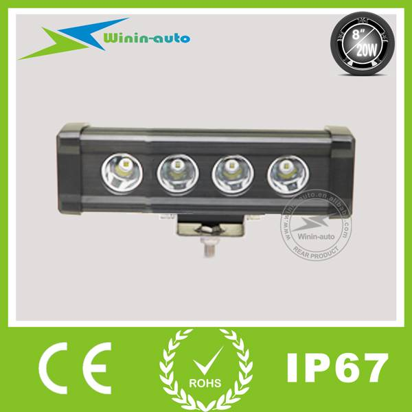 8 20W Single Row Cree LED Light Bar LED work light bar for off-road ATV SUV 1700Lumen WI9015-20